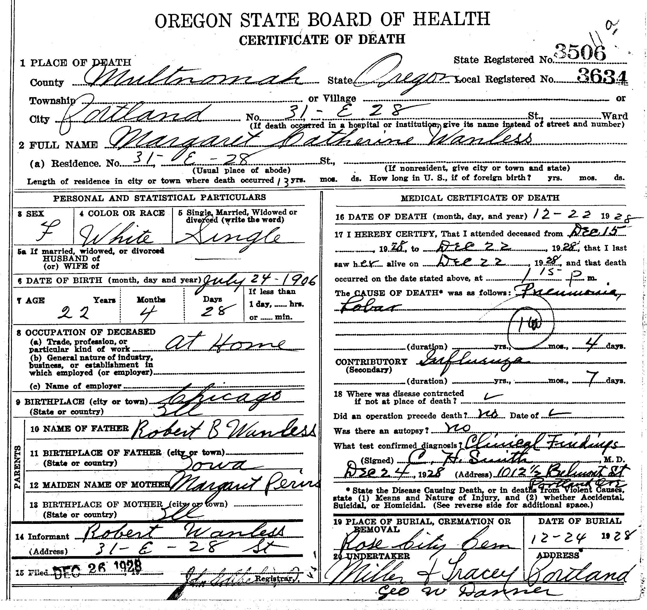 Documents death certificate of margaret catherine wanless do click and drag to move within the image death certificate 1betcityfo Choice Image
