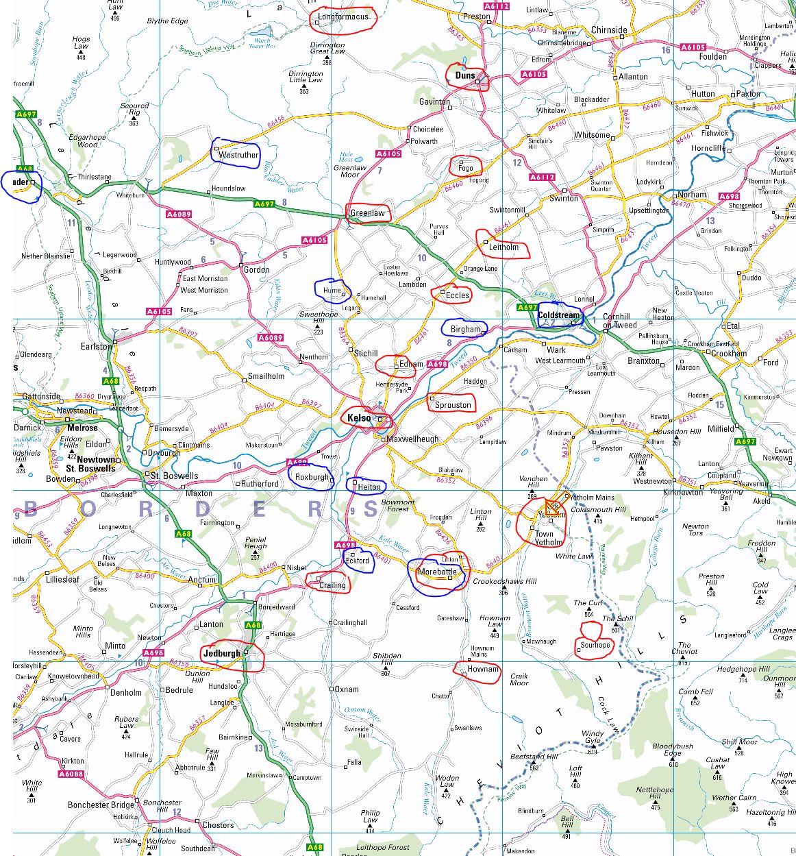 map-Westruther-to-Yetholm